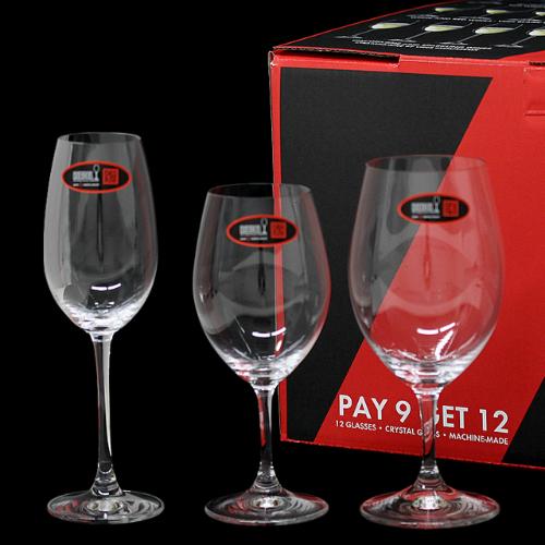 【1月16日15時まで期間限定価格】リーデル RIEDEL オヴァチュア 5408/93 バリューパック 赤ワイン/白ワイン/シャンパーニュ 12個セット ワイングラス 【送料無料(一部地域除く)】