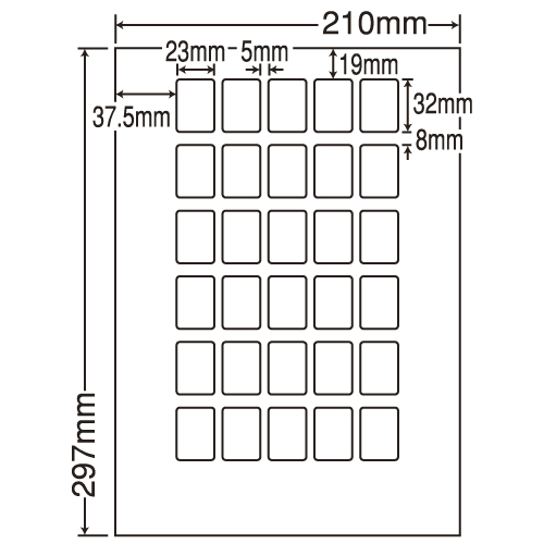 ラベルシール 東洋印刷 LDW30PBF 再剥離タイプ A4 500シート【代引不可】【送料無料(一部地域除く)】
