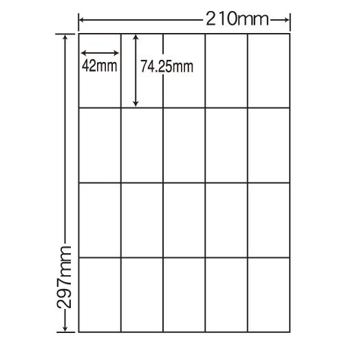 ラベルシール 東洋印刷 CL-22FH 分別処理可能再剥離ラベル A4 100シート×5箱【代引不可】【送料無料(一部地域除く)】