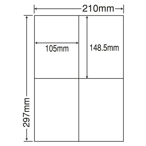 ラベルシール 東洋印刷 CLT-4 レーザープリンタ訂正用 A4 500シート【代引不可】【送料無料(一部地域除く)】
