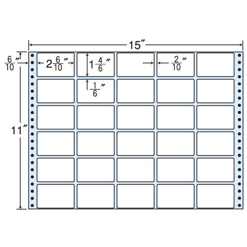 ラベルシール 東洋印刷 RT15B タックシール (連続ラベル) 再剥離タイプ 500折【代引不可】【送料無料(一部地域除く)】