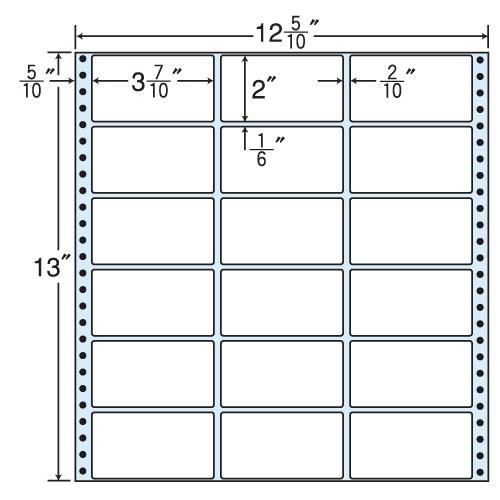 ラベルシール 東洋印刷 MT12P タックシール (連続ラベル) レギュラータイプ 500折【送料無料(一部地域除く)】