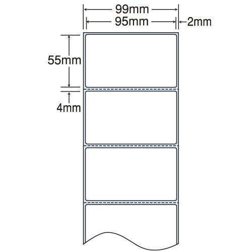 ラベルシール 東洋印刷 THR-3G 感熱ロールラベルシール(医療機関向け) 99mm 4巻【】【(一部地域除く)】:よろずやマルシェ