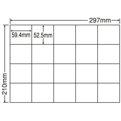 ラベルシール 東洋印刷 C20MF 再剥離タイプ A4 100シート×5箱【代引不可】【送料無料(一部地域除く)】