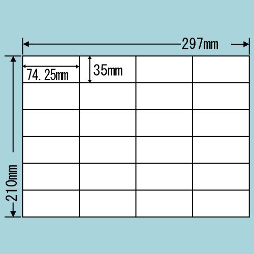 ラベルシール 東洋印刷 C24SF 再剥離タイプ A4 100シート×5箱【代引不可】【送料無料(一部地域除く)】