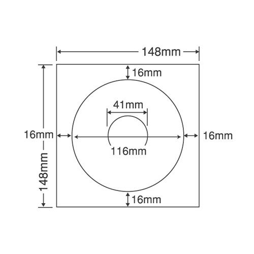 ラベルシール SCJR2F 光沢タイプ カラーインクジェット用 CD-R・DVD-R 100シート【代引不可】【送料無料(一部地域除く)】