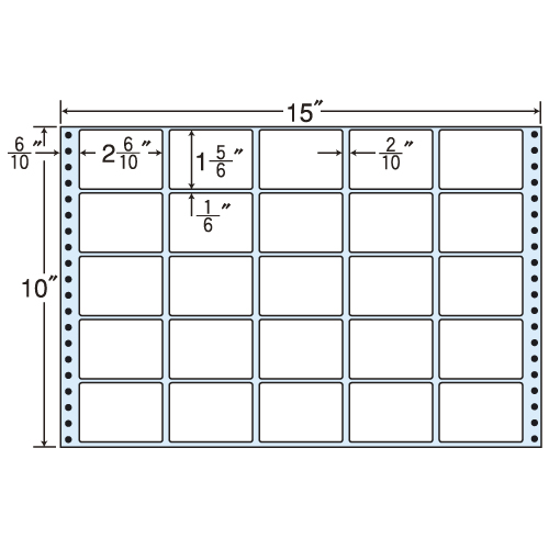 ラベルシール MT15A タックシール (連続ラベル) レギュラータイプ 500折【代引不可】【送料無料(一部地域除く)】