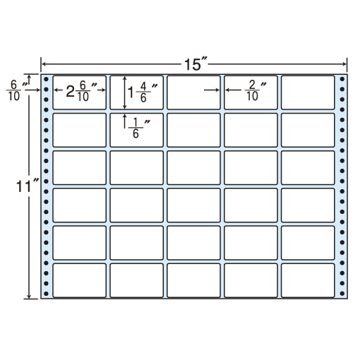 ラベルシール MT15B タックシール (連続ラベル) レギュラータイプ 500折【代引不可】【送料無料(一部地域除く)】