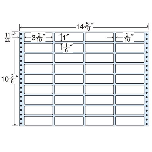 ラベルシール MT14Z タックシール (連続ラベル) レギュラータイプ 500折【代引不可】【送料無料(一部地域除く)】