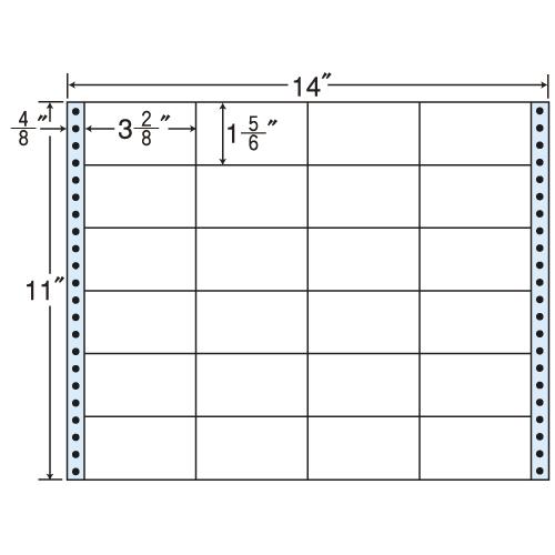 ラベルシール MX14B タックシール (連続ラベル) レギュラータイプ 500折【代引不可】【送料無料(一部地域除く)】