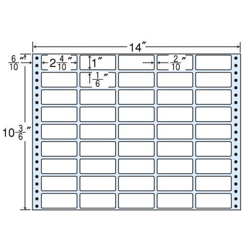 ラベルシール MX14R タックシール (連続ラベル) レギュラータイプ 500折【代引不可】【送料無料(一部地域除く)】