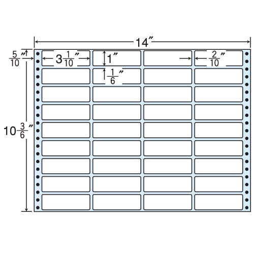 ラベルシール MX14J タックシール (連続ラベル) レギュラータイプ 500折【代引不可】【送料無料(一部地域除く)】
