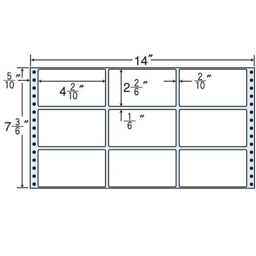 ラベルシール MX14Y タックシール (連続ラベル) レギュラータイプ 500折×2【代引不可】【送料無料(一部地域除く)】