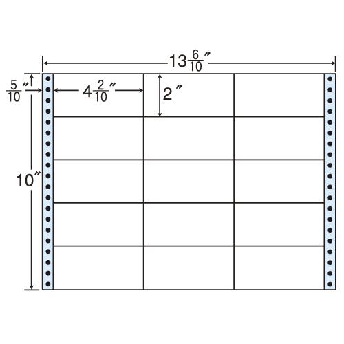 ラベルシール M13N タックシール (連続ラベル) レギュラータイプ 500折【代引不可】【送料無料(一部地域除く)】