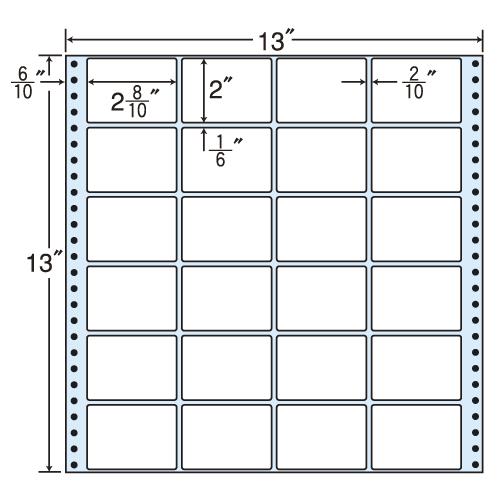 ラベルシール MT13P タックシール (連続ラベル) レギュラータイプ 500折【代引不可】【送料無料(一部地域除く)】