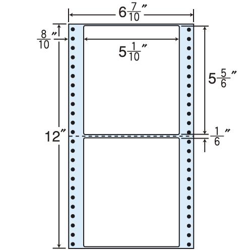 ラベルシール MM6B タックシール (連続ラベル) レギュラータイプ 500折×2【代引不可】【送料無料(一部地域除く)】