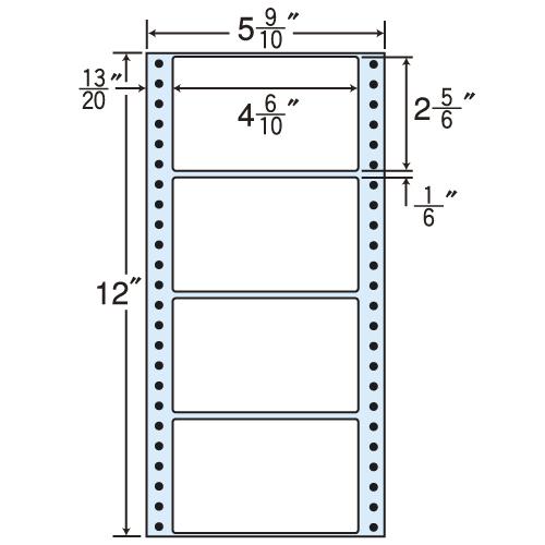 ラベルシール MT5B タックシール (連続ラベル) レギュラータイプ 500折×2【代引不可】【送料無料(一部地域除く)】