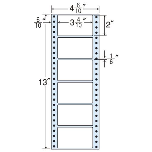 ラベルシール MM4F タックシール (連続ラベル) レギュラータイプ 500折×2【代引不可】【送料無料(一部地域除く)】