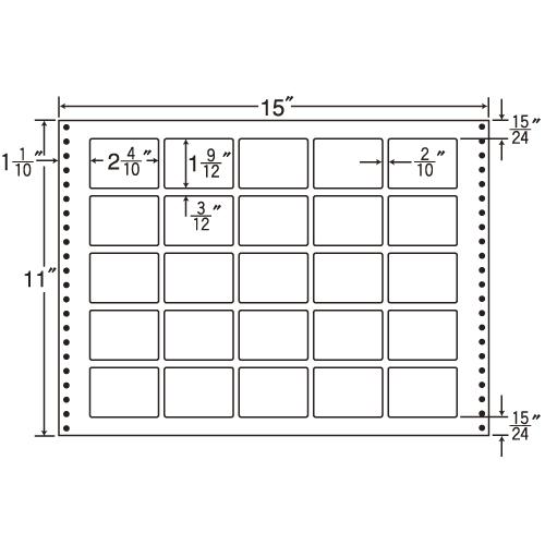 ラベルシール L15Z タックシール (連続ラベル) 耐熱タイプ 500折【代引不可】【送料無料(一部地域除く)】