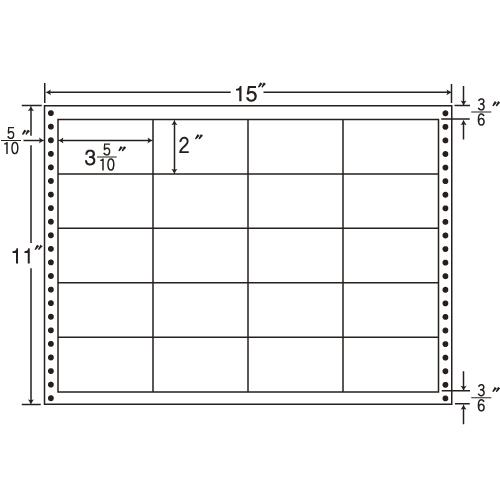 ラベルシール LB15K タックシール (連続ラベル) 耐熱タイプ 500折【代引不可】【送料無料(一部地域除く)】