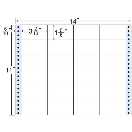 ラベルシール 東洋印刷 MT14R タックシール (連続ラベル) レギュラータイプ 500折【代引不可】【送料無料(一部地域除く)】