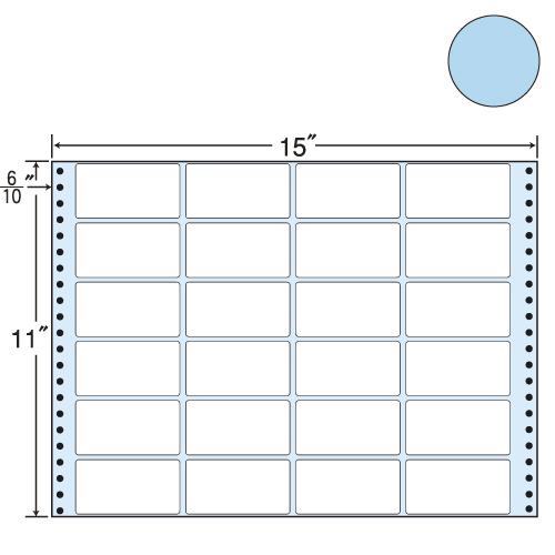 ラベルシール 東洋印刷 MT15TB タックシール (連続ラベル) カラータイプブルー 500折【送料無料(一部地域除く)】