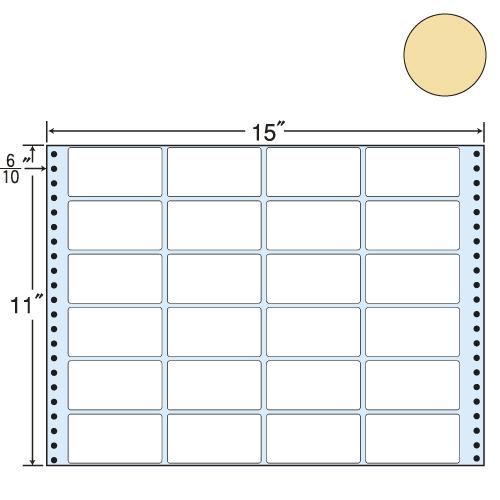 ラベルシール 東洋印刷 MT15TH タックシール (連続ラベル) カラータイプベージュ 500折【代引不可】【送料無料(一部地域除く)】