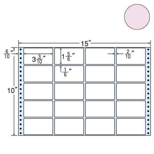 ラベルシール 東洋印刷 M15EP タックシール (連続ラベル) カラータイプピンク 500折【代引不可】【送料無料(一部地域除く)】