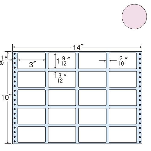 ラベルシール 東洋印刷 MT14JP タックシール (連続ラベル) カラータイプピンク 500折【代引不可】【送料無料(一部地域除く)】