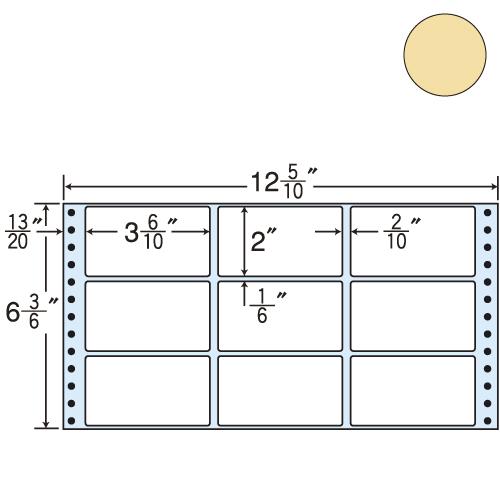 ラベルシール 東洋印刷 M12CP タックシール (連続ラベル) カラータイプピンク 500折【代引不可】【送料無料(一部地域除く)】