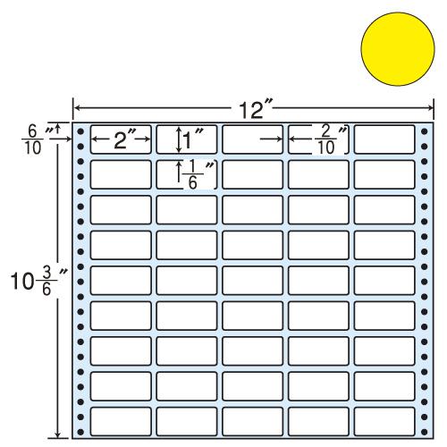 ラベルシール 東洋印刷 M12CB タックシール (連続ラベル) カラータイプブルー 500折【代引不可】【送料無料(一部地域除く)】