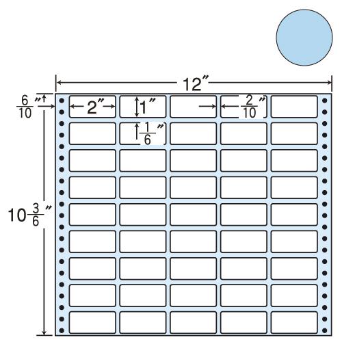 ラベルシール 東洋印刷 M12CG タックシール (連続ラベル) カラータイプグリーン 500折【代引不可】【送料無料(一部地域除く)】