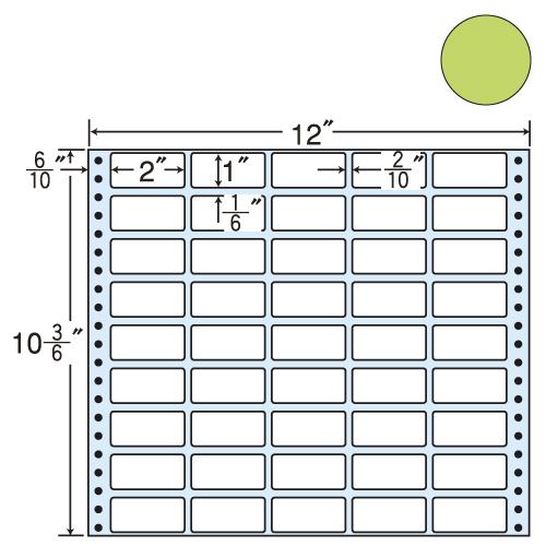 ラベルシール 東洋印刷 M12CH タックシール (連続ラベル) カラータイプベージュ 500折【代引不可】【送料無料(一部地域除く)】