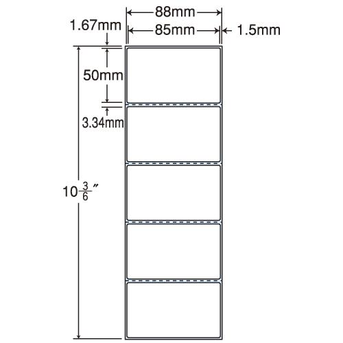 ラベルシール 東洋印刷 TM-3A PDAタイプヨコ【代引不可】【送料無料(一部地域除く)】