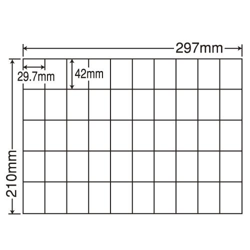 ラベルシール 東洋印刷 C50BF 再剥離タイプ A4 100シート×5箱【代引不可】【送料無料(一部地域除く)】