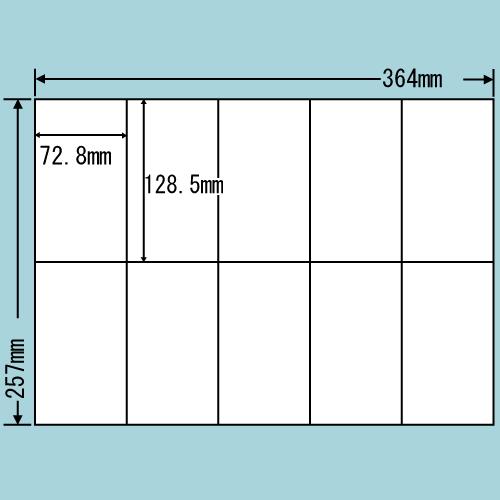 ラベルシール 東洋印刷 E10MF 再剥離タイプ B4 100シート×5箱【代引不可】【送料無料(一部地域除く)】