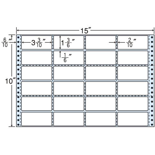 ラベルシール R15J タックシール (連続ラベル) 再剥離タイプ 500折【代引不可】【送料無料(一部地域除く)】
