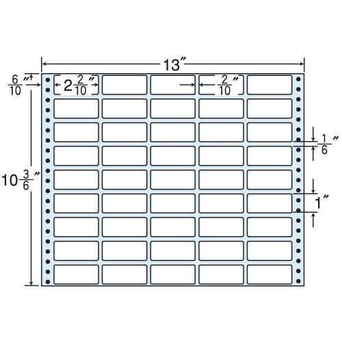 ラベルシール R13P タックシール (連続ラベル) 再剥離タイプ 500折【送料無料(一部地域除く)】