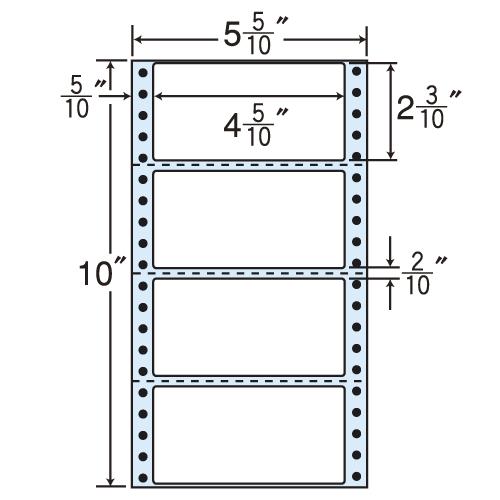 ラベルシール R5W タックシール (連続ラベル) 再剥離タイプ 500折×2【代引不可】【送料無料(一部地域除く)】