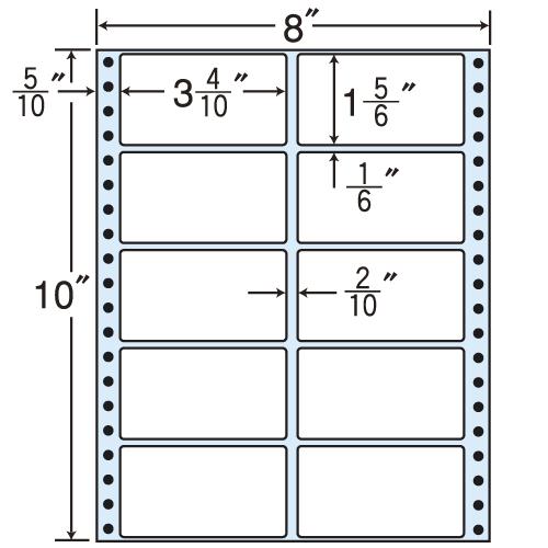 ラベルシール MT8iS タックシール (連続ラベル) レギュラータイプ 100折×5袋【代引不可】【送料無料(一部地域除く)】