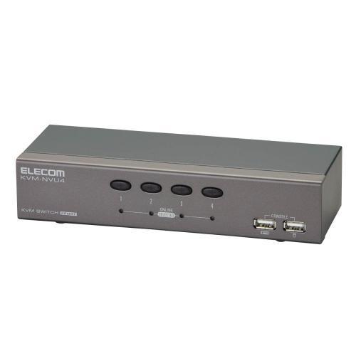 【ELECOM】パソコン切替器 USB 4ポート KVM-NVU4 【代引不可】【送料無料(一部地域除く)】