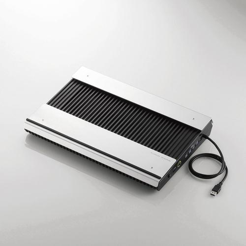 SX-CL24LBK エレコム USB3.0ハブ付きノートPC用クーラー(高耐久性×極冷)【代引不可】【送料無料(一部地域除く)】, ホールセールリミテッド 3a12e932