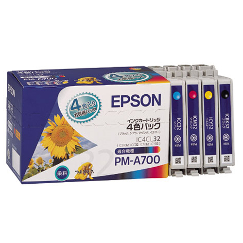IC4CL32 4色パック 純正品 12パックセット EPSON インクカートリッジ【送料無料(一部地域除く)】