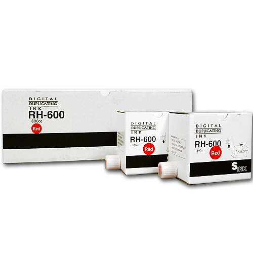 軽印刷機対応インク RH-600 赤 20本セット 【代引不可】【送料無料(一部地域除く)】