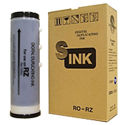 軽印刷機対応インク RO-RZ ミディアムブルー 4本セット 汎用品【代引不可】【送料無料(一部地域除く)】