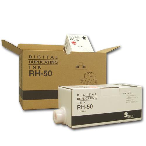 軽印刷機対応インク RH-50 青 6本セット 汎用品【代引不可】【送料無料(一部地域除く)】