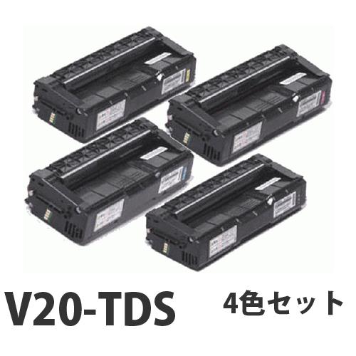 カシオ V20-TDS リサイクル トナーカートリッジ 4色セット【送料無料(一部地域除く)】