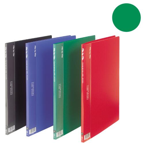 A4サイズ ファイル 文房具 事務用品 バインダー 雑貨 文具 クリヤーブック 固定式クリヤーブック BEAUTONEクリヤーブック A4タテ 20ポケット グリーン 10冊セット