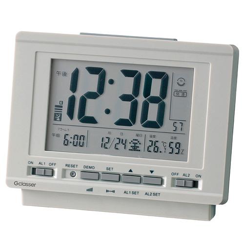 キングジム KINGJIM ハイブリッドデジタル電波時計 GDD-001【代引不可】【送料無料(一部地域除く)】