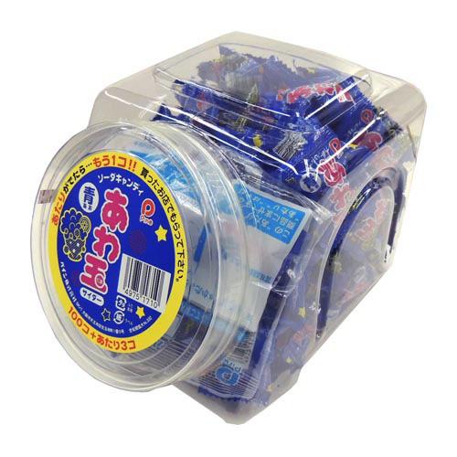 駄菓子キャンディ 駄菓子 NEW スイーツ 国内在庫 お菓子 食品 飴 サイダー 青 100個入 キャンディ パインあわ玉